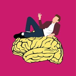human above brain