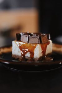 Caramelized Hazelnuts Parfait with Caramel Sauce