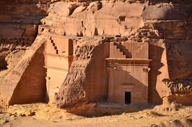 In Madain Saleh.